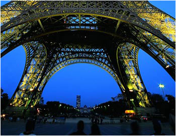 Eiffel Tower From Bottom By Night