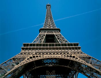 Eiffel Tower and Blue Sky
